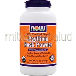 Psyllium Husk Powder - Certified Organic 12 oz NOW