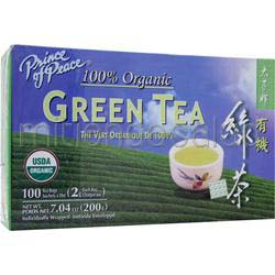 Green Tea - 100% Organic 100 pckts PRINCE OF PEACE