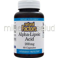 Alpha-Lipoic Acid 200mg 60 caps NATURAL FACTORS