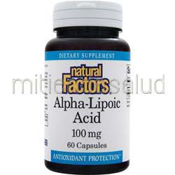 Alpha-Lipoic-Acid 100mg 60 caps NATURAL FACTORS