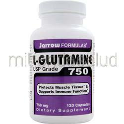 L-Glutamine 750 USP Grade 120 caps JARROW