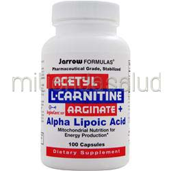 Acetyl L-Carnitine Arginate con Alpha Lipoic Acid 100 caps JARROW