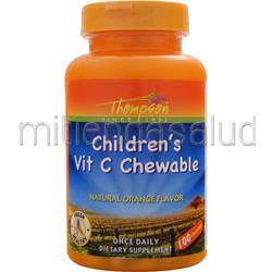 Children's Vit C Chewable 100 chews THOMPSON