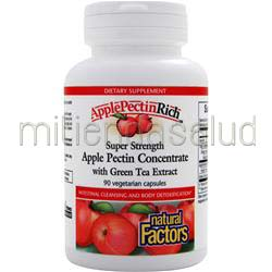 ApplePectinRich - Super Strength Apple Pectin Concentrate 90 caps NATURAL FACTORS