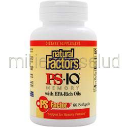 PS IQ Memory with EFA-Rich Oils 60 sgels NATURAL FACTORS