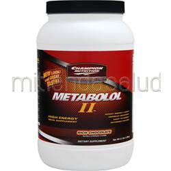 Metabolol II Chocolate 2 2 lbs CHAMPION NUTRITION