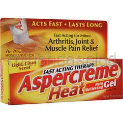 Aspercreme Heat - Pain Relieving Gel 2 5 oz CHATTEM