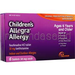 Allegra Allergy - Children's 6 tabs CHATTEM