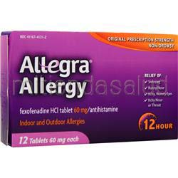 Allegra Allergy 12 tabs CHATTEM