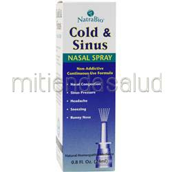 Cold & Sinus Nasal Spray  8 fl oz NATRABIO