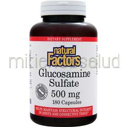 Glucosamine Sulfate 500mg 180 caps NATURAL FACTORS