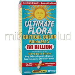 Ultimate Flora - Critical Colon BifidoMax 80 Billion 30 caps RENEW LIFE