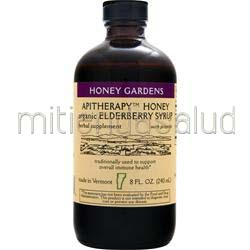Apitherapy Honey - Organic Elderberry Syrup 8 fl oz HONEY GARDENS