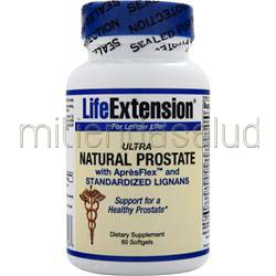 Ultra Natural Prostate with ApresFlex and Standardized Lignans 60 sgels LIFE EXTENSION