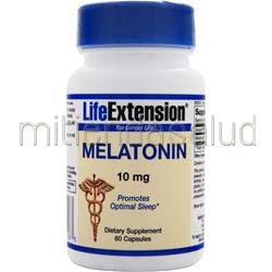 Melatonin 10mg 60 caps LIFE EXTENSION
