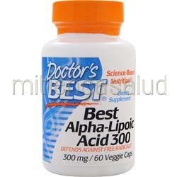 Best Alpha-Lipoic Acid 300mg 60 caps DOCTOR'S BEST