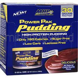 Power Pak Pudding Chocolate 6 cans MHP