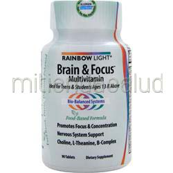 Brain & Focus Multivitamin 90 tabs RAINBOW LIGHT