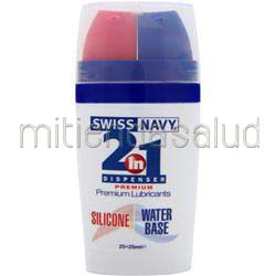 Swiss Navy - 2-in-1 Dispenser Premium Lubricants - Silicone and Water Base Silicone / Water Base 50 mL MD SCIENCE LABS