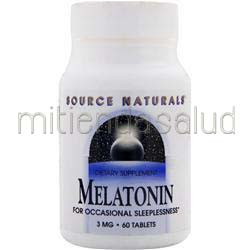 Melatonin 3mg 60 tabs SOURCE NATURALS