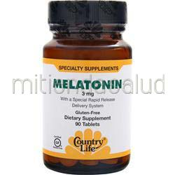 Melatonin 3mg 90 tabs COUNTRY LIFE