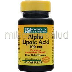 Alpha Lipoic Acid 100mg 60 caps GOOD 'N NATURAL
