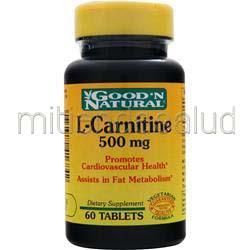 L-Carnitine 500mg 60 tabs GOOD 'N NATURAL