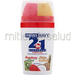 Swiss Navy - 2-in-1 Dispenser Premium Flavored Lubricants StrawberryKiwi/PinaColada 50 mL MD SCIENCE LABS