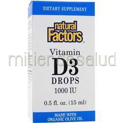 Vitamin D3 Drops 1000IU  5 fl oz NATURAL FACTORS