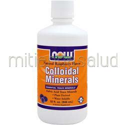 Colloidal Minerals - Essential Trace Minerals Natural Rasberry Flavor 32 oz NOW