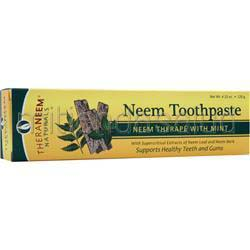 Neem Toothpaste Mint 4 23 oz THERANEEM ORGANIX