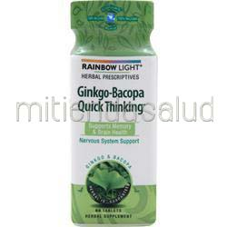 Ginkgo-Bacopa Quick Thinking 60 tabs RAINBOW LIGHT