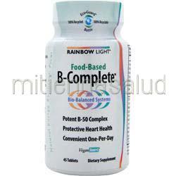 Food Based B-Complete 45 tabs RAINBOW LIGHT
