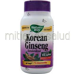Korean Ginseng - Standardized Extract 60 caps NATURE'S WAY