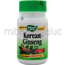 Korean Ginseng Root 50 caps NATURE'S WAY