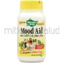 Mood Aid w/ 5-HTP & St  John's Wort 60 caps NATURE'S WAY