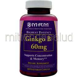 Ginkgo B 60mg 120 caps MRM