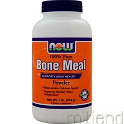 Bone Meal 100% Pure Powder 1 lbs NOW