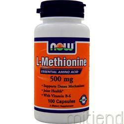 L-Methionine 500mg 100 caps NOW