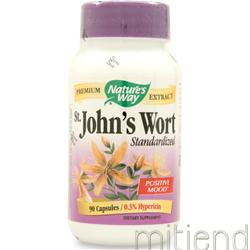 St  John's Wort - Standardized Extract 90 caps NATURE'S WAY