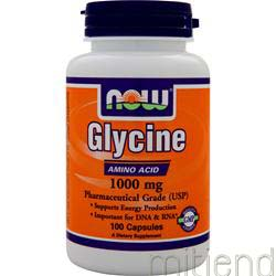 Glycine 1000mg 100 caps NOW