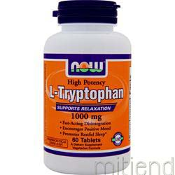 L-Tryptophan 1000mg 60 tabs NOW