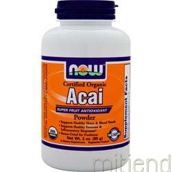 Certified Organic Acai Powder 3 oz NOW