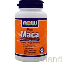 Raw Maca 750mg 90 caps NOW