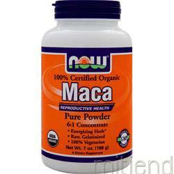 Organic Maca Pure Powder 7 oz NOW
