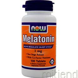 Melatonin 1mg 100 tabs NOW