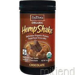 Organic Hemp Shake Chocolate 16 oz NUTIVA