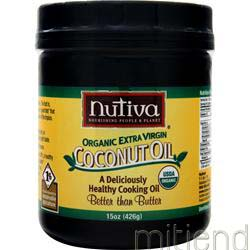 Organic Extra Virgin Coconut Oil 15 oz NUTIVA