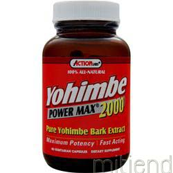 Yohimbe Power Max 2000 50 caps ACTION LABS