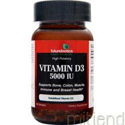 Vitamin D3 5000IU 90 sgels FUTUREBIOTICS